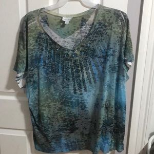Multi-colored Bedazzled Blouse